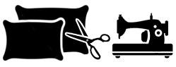 Usługa przeszycia poszewki na poduszkę