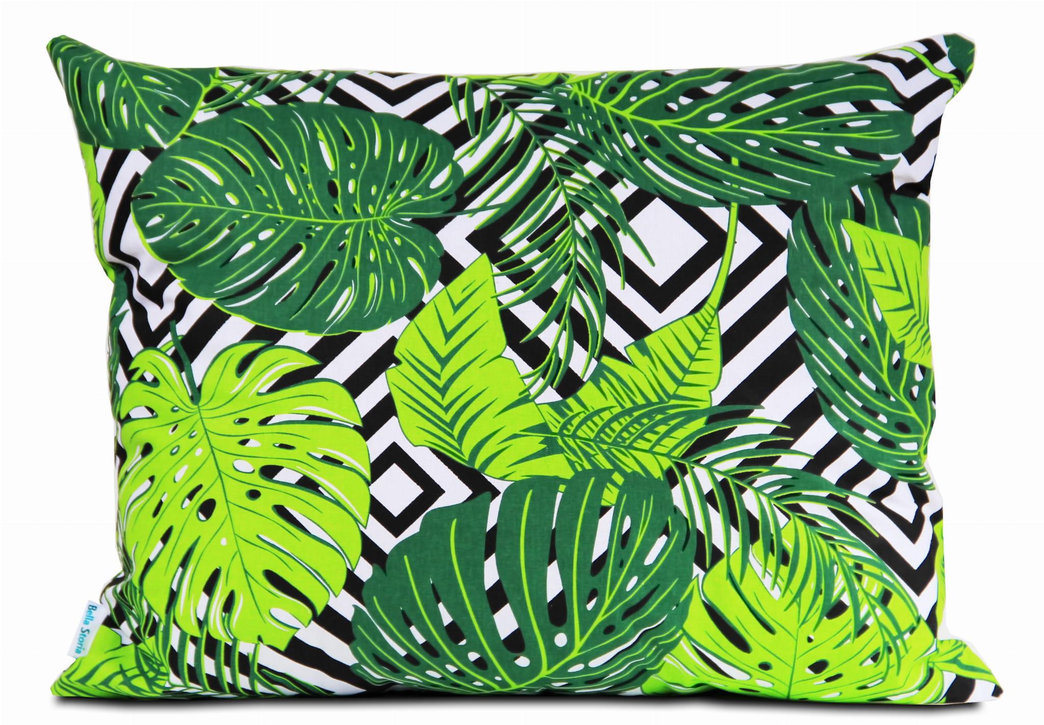 Poszewka Bawełniana Green Leaves Liście 50x60